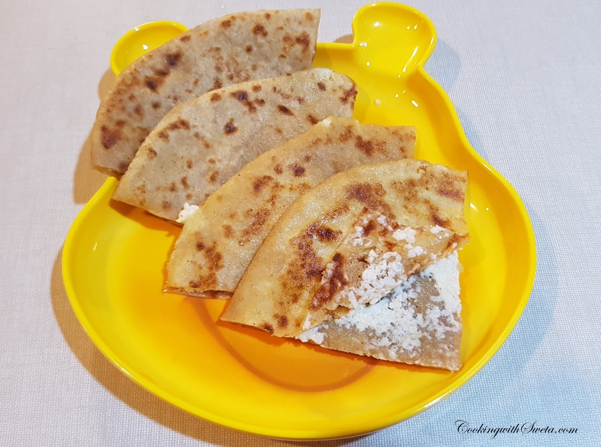 Paneer Paratha (For Kids) - How to Make Paneer Paratha