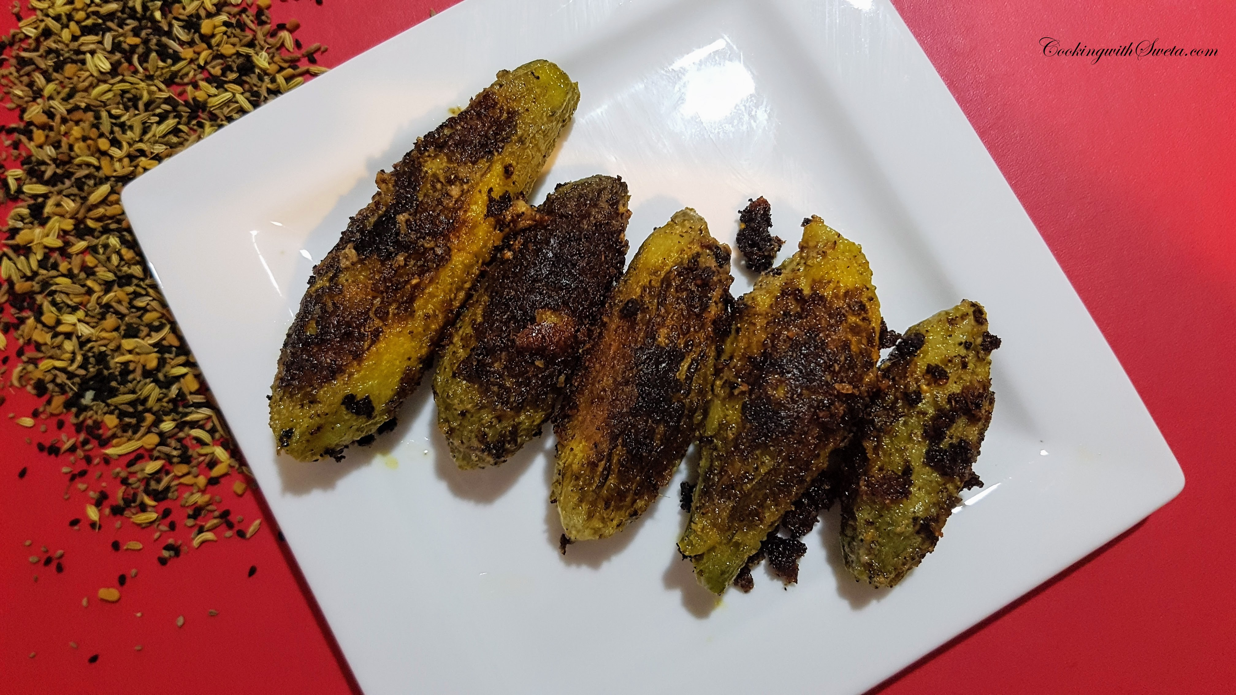 Cooking-with-sweta-karele-ki-kalonji