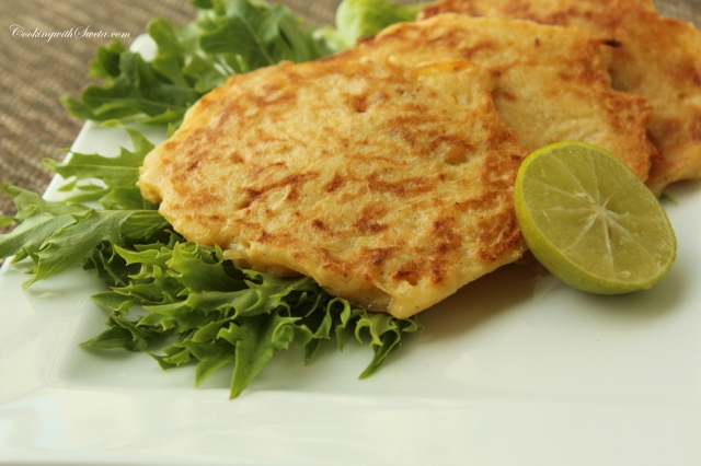 CookingwithSweta - Potato Fritters