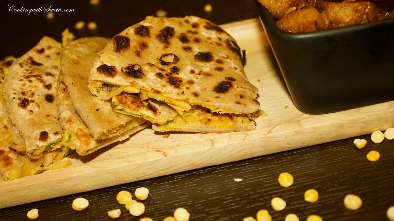 how-to-make-chana-dal-paratha