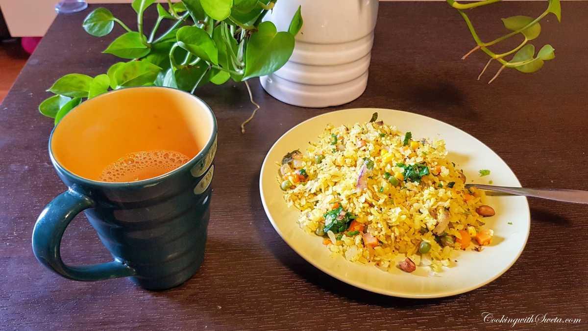Kanda Poha, Mumbai Roadside Recipes
